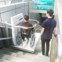 Disabled Barrier-free Square Stair Incline Wheelchair Lift