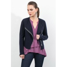 Good User Reputation for Women'S Cashmere Coats Double Knit Open Front Zip Up Moto Cashmere Jacket export to Macedonia Factory