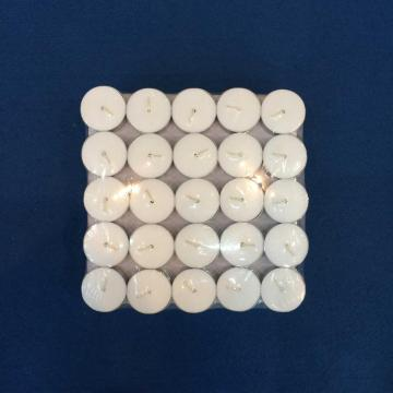 Cheap White Unscented Tealight Candle Box Packing