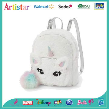 Unicorn white plush  backpack
