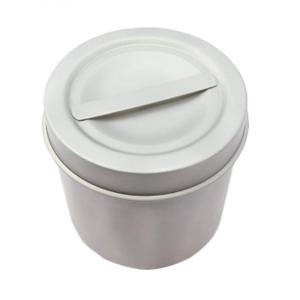 Stainless steel medical dressing jar with knob product