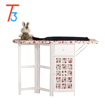 Eco-Friendly antique cabinet wooden ironing board in cabinet