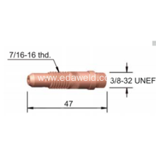 Good Quality for Copper Collet Body 10N Tig Welding Collet Body export to Morocco Suppliers