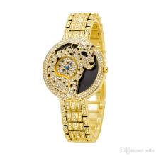 Square Watch Ladies Diamond Quartz Rose Gold Watch