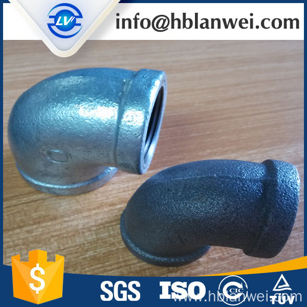 BS galvanized banded elbow M.I. pipe fittings