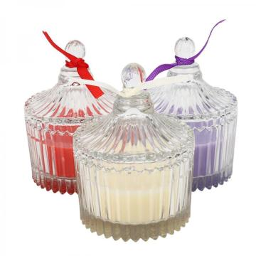 Yurts holder Colourful scented Candle in Glass Jar