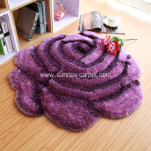 3D rug with rose shape