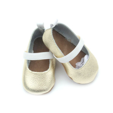 Wholesales Genuine Leather Gold Baby Dress Shoes