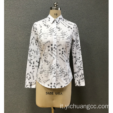 Camicia da donna all over print