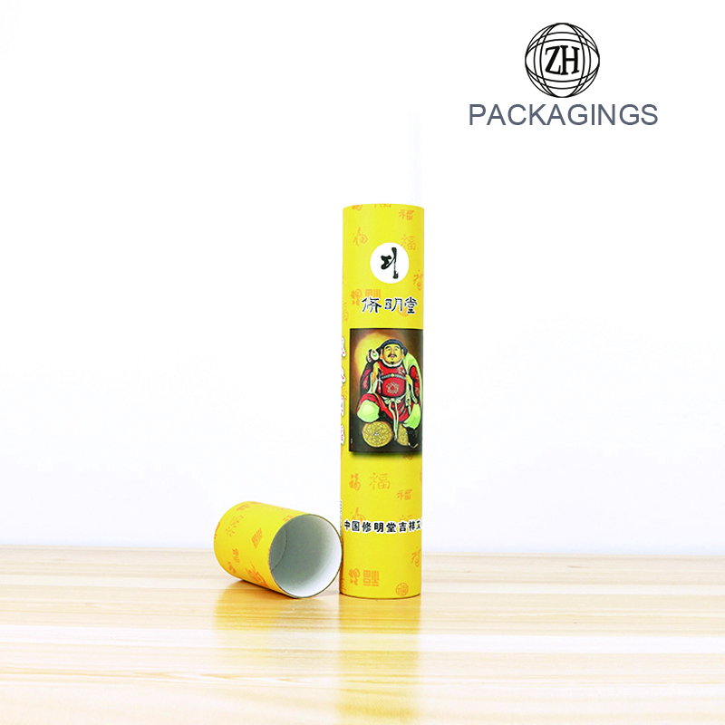 Luxury composite paper tube incense cans packaging