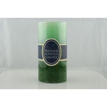 Colorful scented pillar candle for home decoration