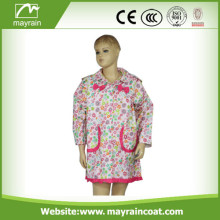 Polyester Kid' s Raincoat With Pocket