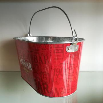 Large Size Oval Galvanized Tin Bucket