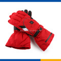 Ang Electric Heated Ski Gloves nga pula nga kolor