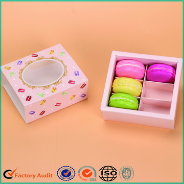 Drawer Macarons Packing Box Printing Window