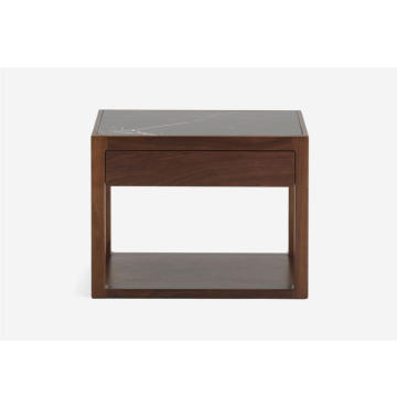 Marble Table Top Wooden Nightstands