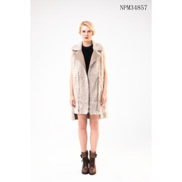 Free sample for for Women Fur Gilet,Gilet Leather Fur,Cheap Fur Gilet Manufacturers and Suppliers in China Australian Merino Shearling Vest export to South Korea Manufacturer