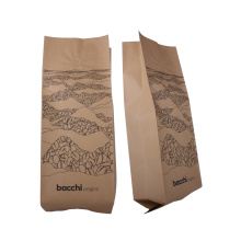 Flat Bottom Kraft Paper Bio Degradable Coffee Bag