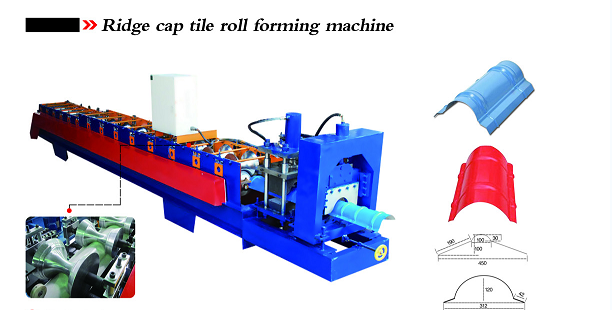 Ridge cap tile roof sheet roll forming machine