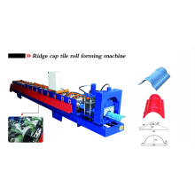High reputation for Galvanized Ridge Cap Tile Roll Forming Machine Roof Ridge Cap Rolling Machine export to United States Minor Outlying Islands Supplier
