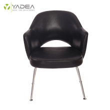 Elegant genuine leather Saarinen executive armchair