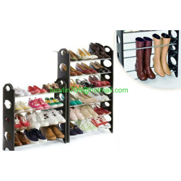 10-Tier Shoe Rack Storage Organizer - 30 Pair Portable Wardrobe Closet - Bench Tower, Stackable, Adjustable Shelf, Strong & Stur