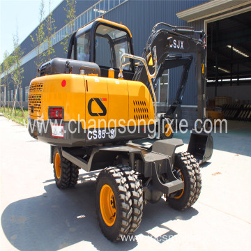 2018 New launched 7Ton 4WD wheel excavator