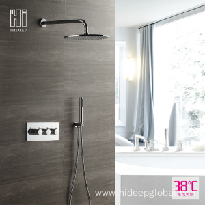 Best Price for for Bathroom Thermostatic Shower Faucet HIDEEP Thermostatic Bath Shower Faucet Set supply to Armenia Manufacturer