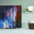 Galaxy Waterproof Shower Curtain Starry Sky Dreamy Bathroom Decor