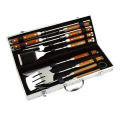 7pcs BBQ tool set in aluminium box