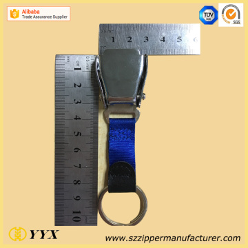 Personlized Products for Custom Rubber Keychains High end airline buckle seatbelt metal key ring supply to India Manufacturer