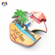 Custom marathon finisher metal awards medal