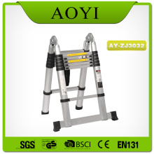 Good Quality for Single Side Telescopic Ladder Double side aluminum telescopic ladder with big hinge export to Lithuania Factories