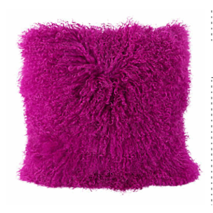 Lamb Fur Cushion Suitable for kids