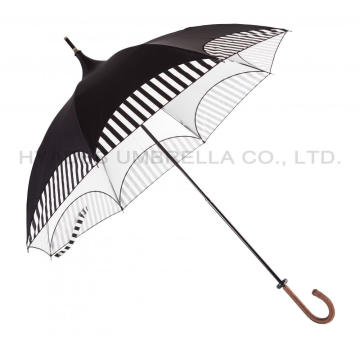 Ladies Vintage Folding Sun Pagoda Umbrella Parasol