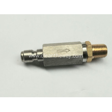 "Pressure Washer S.S. Housing High Pressure 4500 PSI Filter with 1/4"" Male Inlet x 1/4"" Plug"