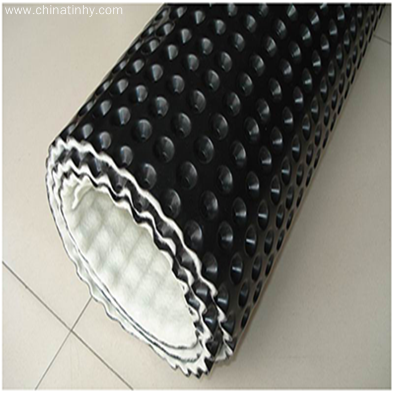 EngineeringPlastic Drainage Board covered geotextile