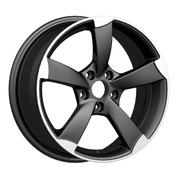 5-Spoke Audi Replica Wheel Matt Black Polished