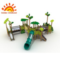 Jungle Leaf Wood Outdoor Playground Equipment For Sale