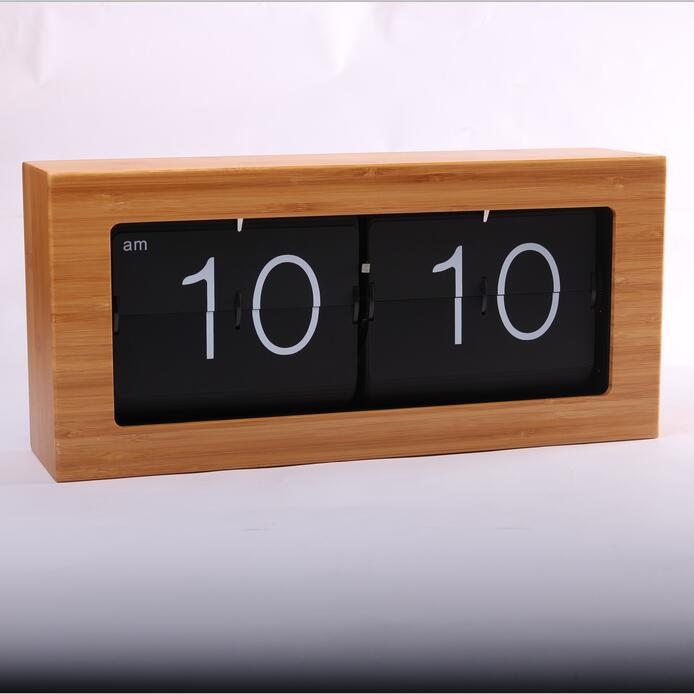 Large Wooden Clock Desk Wall