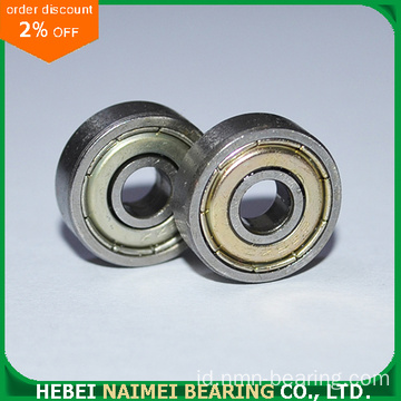 626-ZZ miniature ball bearing 6x19x6 terlindung