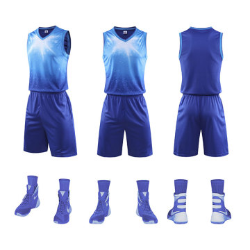 Uniforme de basketball en polyester avec sublimation