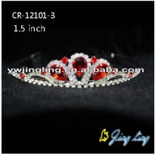 Red Rhinestone Cheap Girls Tiaras