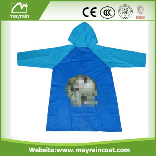 100% PVC Raincoat for Kids