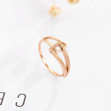 Simple Stainless Steel Rose Gold Ring Band Wholesale