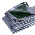 Fire Resistant Tarpaulin Low Price Silver Color