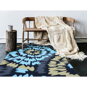 Hand tufted shaggy carpet comfort mat