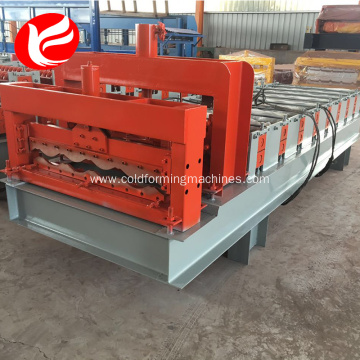 Hydraulic glazed tile roof panel steel rolling machine