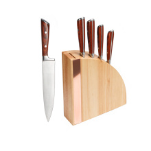 Garwin 6pcs kitchen knife set with wood block