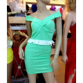 2014 summer new European and American word collar chest wrap hip sexy dress trade women's wholesale